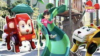라임이네 놀이터에 카니멀이 나타났다! 자동차에서 동물로 변신!동물농장 장난감 놀이 LimeTube & Toy 라임튜브