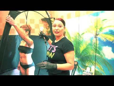Body Glo By Laura Custom Airbrush Spray Tan Glo Session Demo