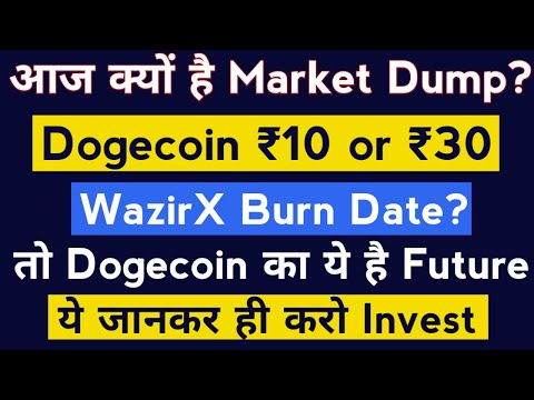 Why Crypto Market Is Down Today And WazirX Burn Event Date   Dogecoin Prediction And Crypto News