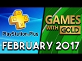 PlayStation Plus VS Xbox Games With Gold (February 2017)