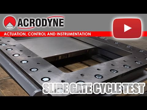 Actuated Slide Gate Cycle Testing