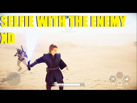 Star Wars Battlefront 2 - Anakin owns poor Boba player XD Selfie time with the enemy XD thumbnail