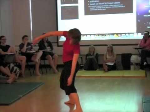 Amanda Kurtz performing Choreobot 2.0 (VICKI)