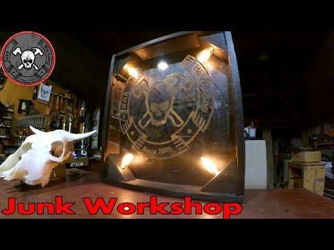Diy Wood and Glass Shop Sign Shou Sugi Ban Insegna in vetro per il Canale / Shop fai da te