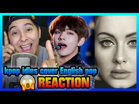KPOP ARTISTS COVER ENGLISH POP SONGS | REACTION| AMAZING !
