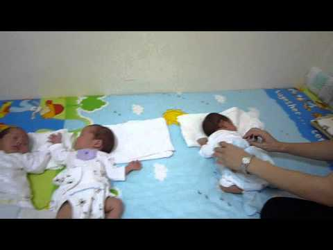 Triplet Baby Caring By Confinement Nanny 1.wmv