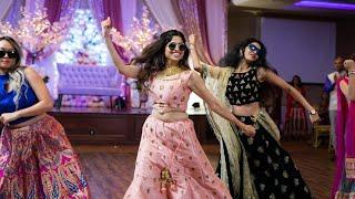 amazing sisters family bollywood dance indian wedding reception sangeet shivshwetkishaadi