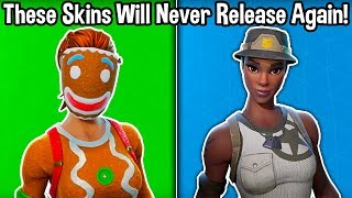 10 RARE SKINS THAT WILL NEVER RETURN to Fortnite! (u can't buy these skins)