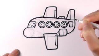 How to Draw a Cartoon Plane