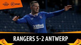Rangers vs Antwerp (5-2) | Morelos & Kent star for Steven Gerrard's side | Europa League Highlights