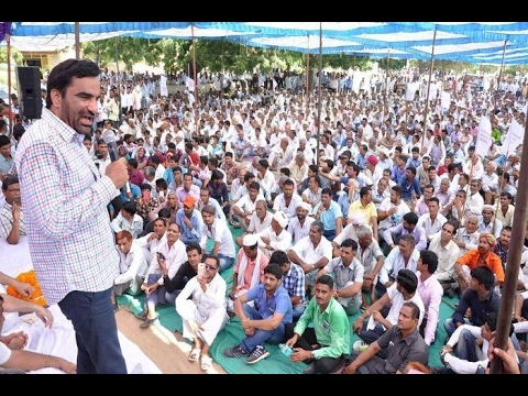 hanuman beniwal speech agan vasundhara 21 february 2017  at Bhopalgad Jodhpur  most watch
