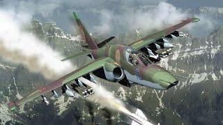 DCS WORLD  1.5 open beta  сетевая игра, Су-25T обнаружение и атака ЗРК противника