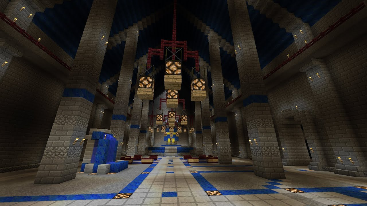 Minecraft: Castle - Main Hall Decorations (part 38 season 1) - YouTube
