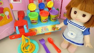 Baby doll learn snack making plah doh Baby Doli play house