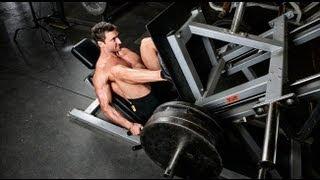 Жим ногами в тренажере. Как накачать мышцы ног. Обучающее видео(Программа тренировок на массу «Леон»: http://www.athleticblog.ru/?page_id=2723 Жим ногами в тренажере. Как накачать мышцы..., 2011-12-07T20:54:10.000Z)