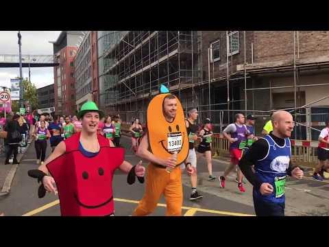 Birmingham International Half Marathon 2017. Great Birmingham Run half marathon. Part 1.