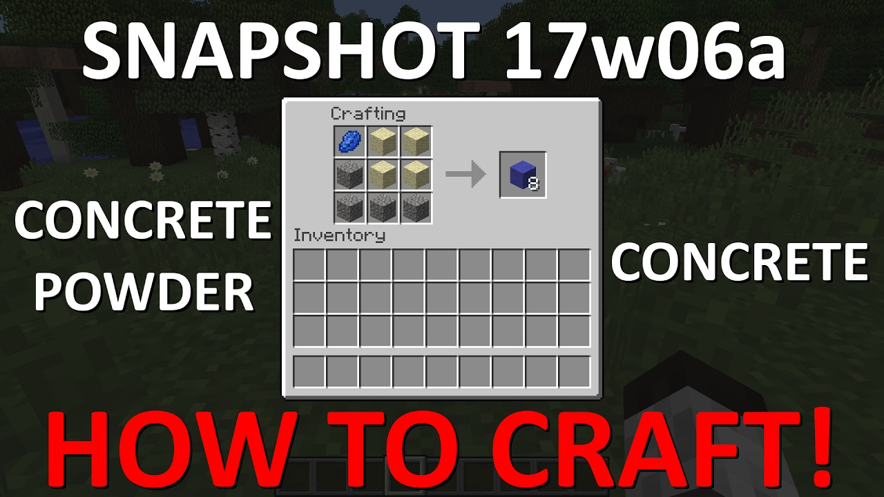 How To Craft Concrete Powder In Minecraft