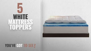 Top 10 White Mattress Toppers [2018]: Sleep Innovations 4-Inch Dual Layer Queen Mattress Topper