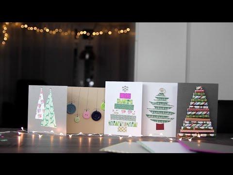 DIY Zelf Kerstkaarten Maken Budget Makkelijk