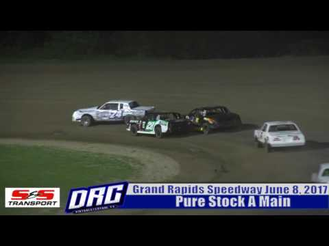 Grand Rapids Speedway 6/8/17 WISSOTA Pure Stock Finish