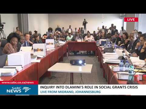 Inquiry into Bathabile Dlamini's role in social grants crisis: 23 January 2018 Part 2
