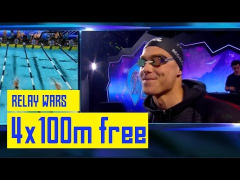 LA v London v Iron | Men's 4x100m freestyle relay | FULL RACE | Dallas ISL