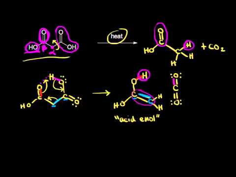 Decarboxylation | Carboxylic acids and derivatives | Organic chemistry | Khan Academy