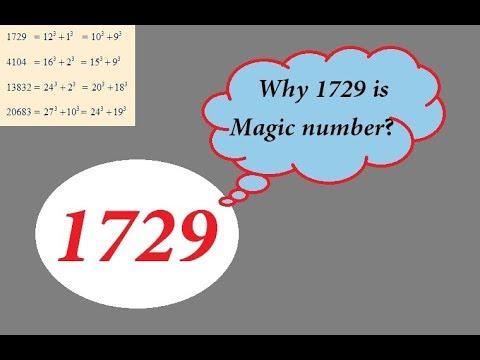 1729 Magic number   1729 Srinivasa Ramanujan number   Maths Puzzle