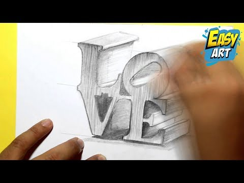 how to draw love , how to draw 3D love , como dibujar amor en 3D , love quotes ,