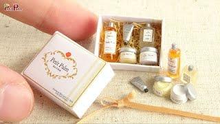 Miniatur Körperpflegeprodukte - Puppenhaus Tutorial - DIY