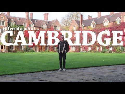 Offered a job at CAMBRIDGE UNIVERSITY!!!