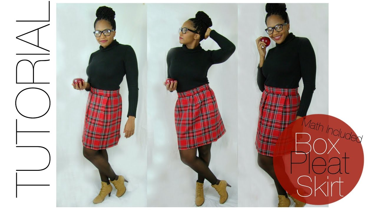 Diy Box Pleat Skirt Includes The Math
