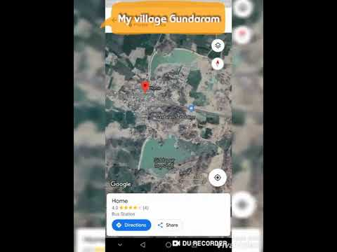 My village gundaram satellite map video ||santhosh alichala