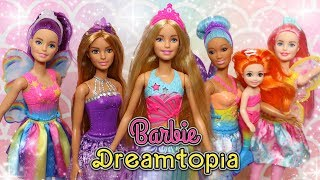 barbie dreamtopia mermaids fairies and princess dolls unboxing review