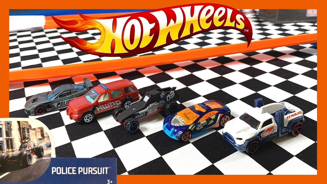 Hot Wheels Police Pursuit 5 Pack On The Track!!!