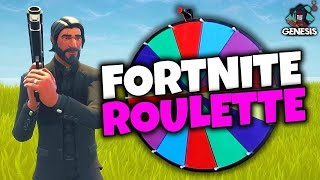 THE ROULETTE RUSSE OF SKINS ON FORTNITE BATTLE ROYALE!