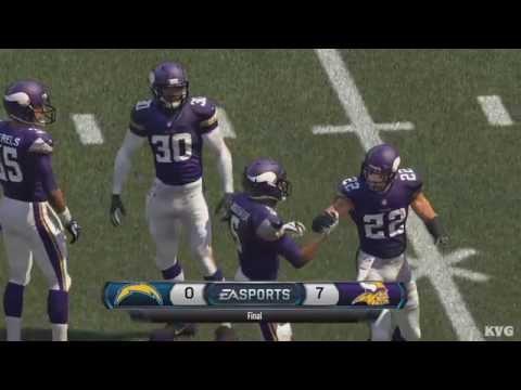 Madden NFL 16 - San Diego Chargers vs Minnesota Vikings Gameplay (XboxONE HD) [1080p]
