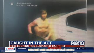 Caught in the Act: Police looking for shirtless car thief