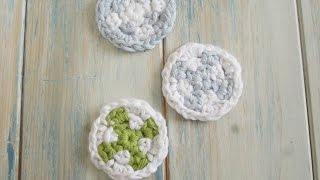(crochet) How To Crochet Make-up Remover Pads - Yarn Scrap Friday