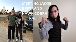 MEETING JACOB BERTRAND HAWK COBRA KAI!! FILMING FOR COBRA KAI SEASON 2