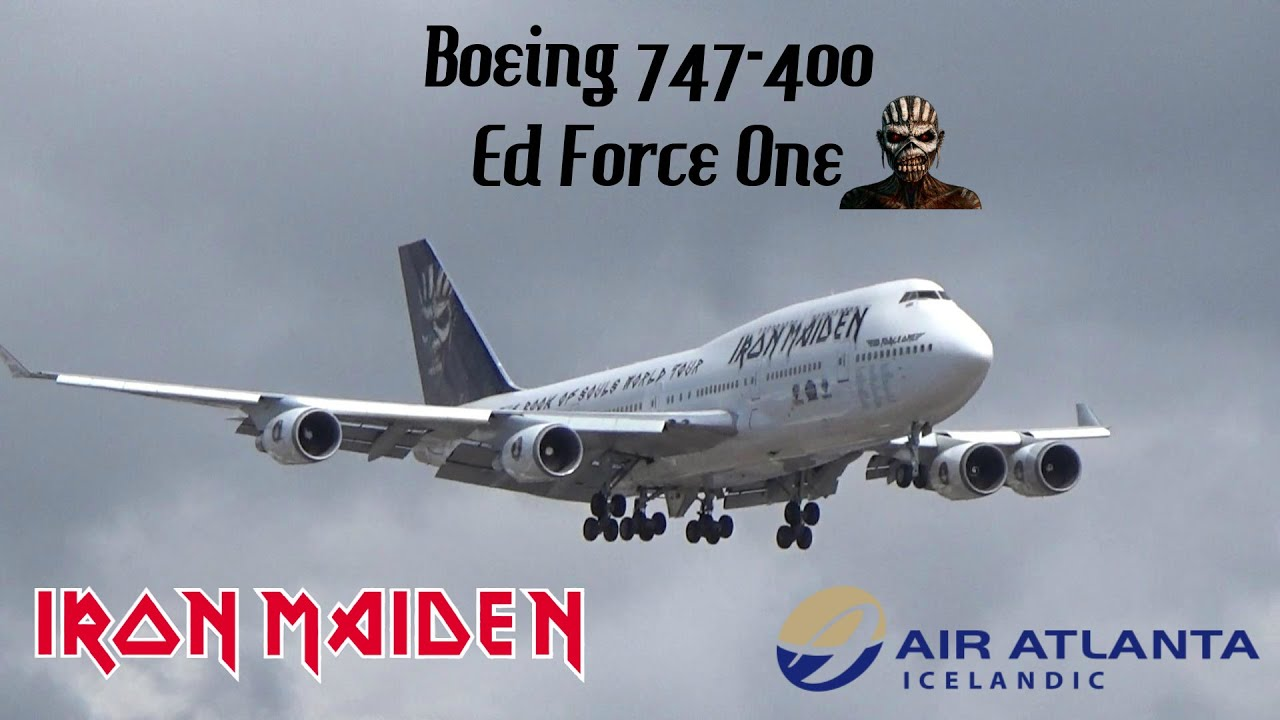 rare iron maiden ed force one boeing 747 400 landing rwy 23 toronto pearson int 39 l april 2. Black Bedroom Furniture Sets. Home Design Ideas