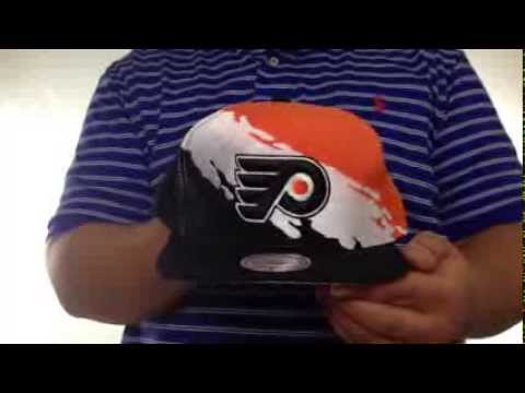 34f44a38e6f Flyers  PAINTBRUSH SNAPBACK  Orange-White-Black Hat by Mitchell   Ness