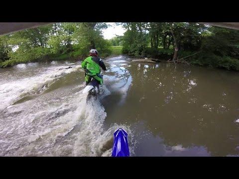 2016-06-05 Kaskaskia River Trails // high water // YZ250 YZ250F