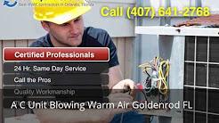 A C Unit Blowing Warm Air Goldenrod FL (407) 641-2768