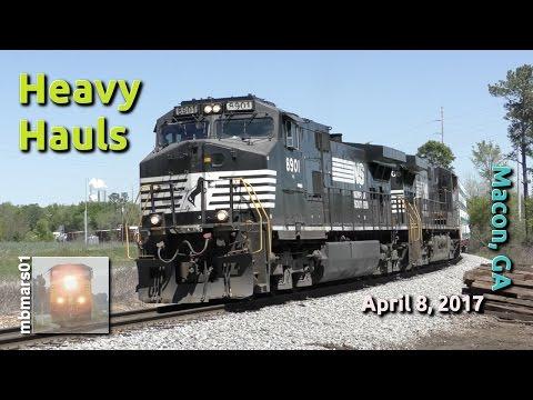 [4m] Heavy Hauls, Railfanning Macon, GA, 04/08/2017 ©mbmars01