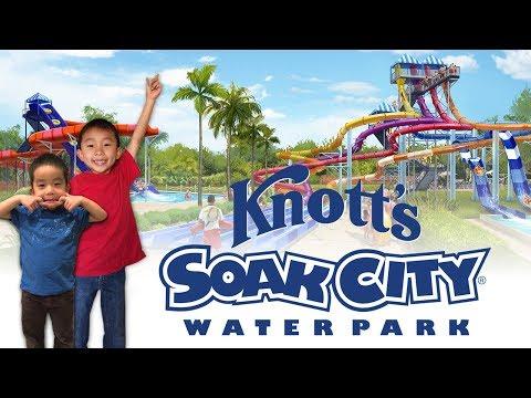 Knott's Soak City (New Slides Shore Break & The Wedge): Traveling with Kids