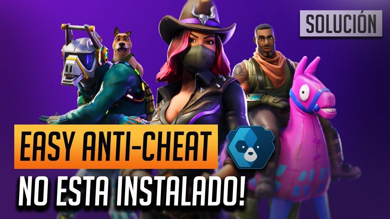 Error de Incio `EasyAntiCheat no está instalado` en Fortnite
