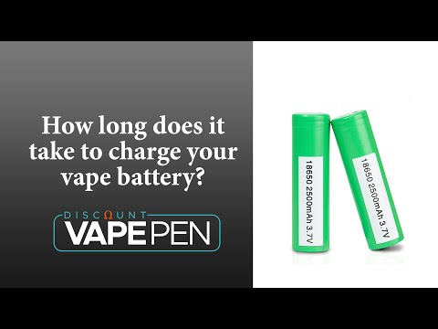 How Long Does It Take To Charge Your Vape Battery - YouTube