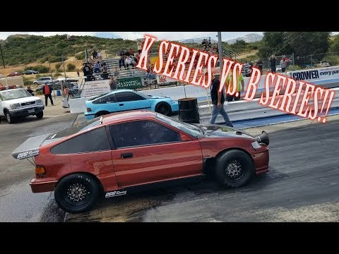K24 DAILY DRIVEN HATCH GOES DRAG RACING! (import outlaws April 28th 2019)