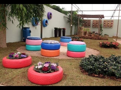 60 creative ideas reuse old tires for home decoration for Creative ideas for house decoration